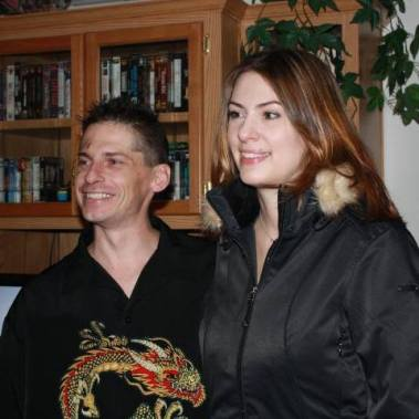 Author and her late cousin, Paul, who died at age 40 due to lack of medical care (see blog article https://kathleendefever.wordpress.com/2014/01/27/paul-jason-white-killed-at-age-40-by-a-mysterious-illness-and-the-lack-of-medical-care-he-was-my-cousin/)